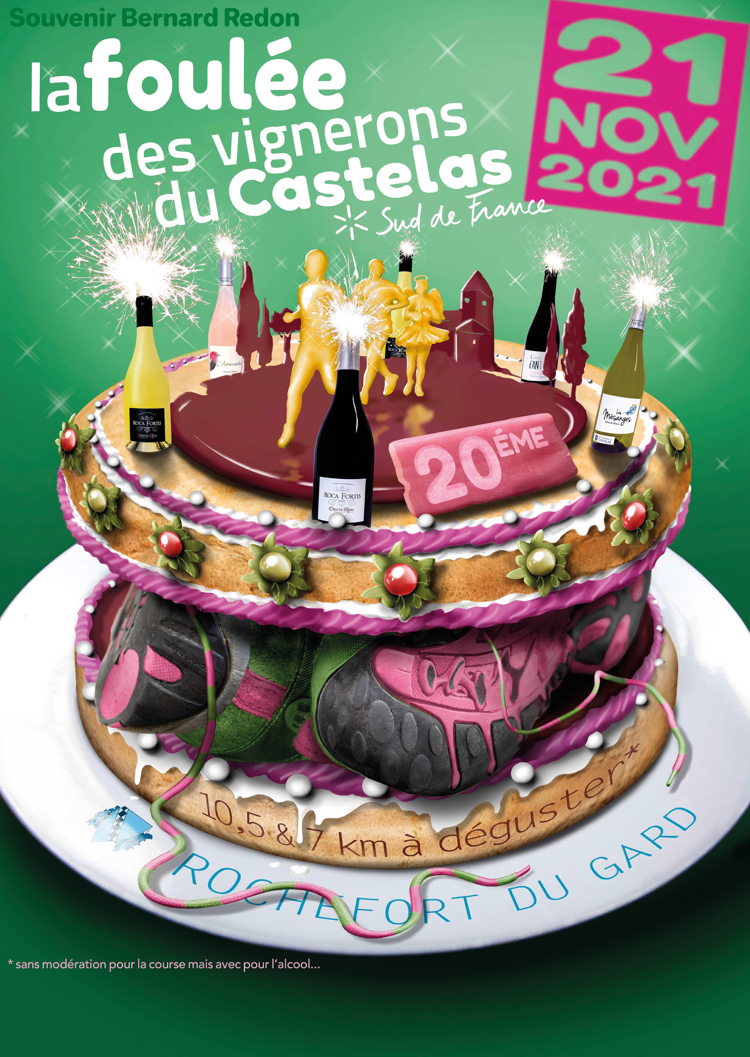 Affiche La Foulée des Vignerons du Castelas : 2021
